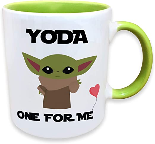 Amazon Com Yoda One For Me Funny Novelty Coffee Mug 11 Oz Funny Gift Cup For Him Her Boyfriend Girlfriend And Valentines Day I Love You His And Hers Mug Romantic Gifts Anniversary