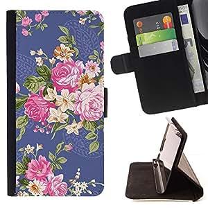 Momo Phone Case / Flip Funda de Cuero Case Cover - Begonia Rose Fleur Floral - Samsung Galaxy S4 IV I9500