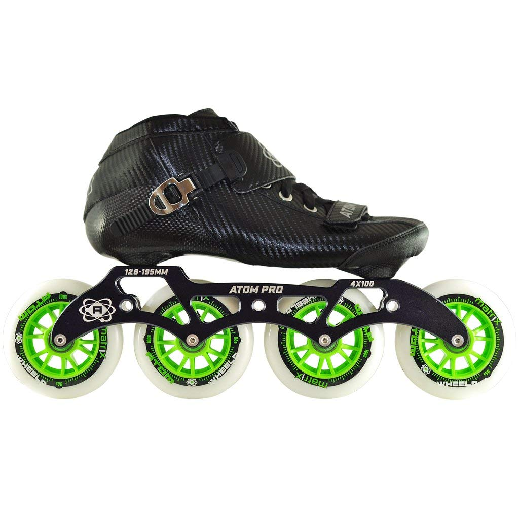 Atom Pro 4 Wheel Outdoor Inline Skate Package (Size 10)