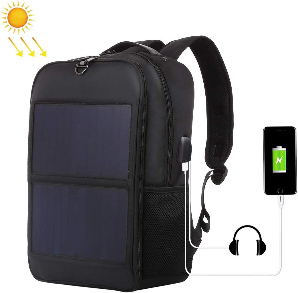 HAWEEL 2way ソーラーリュック 14W 5V / 2.1A 大容量 撥水 バックパック 2 USB充電ポート/ハンドル付き 通学/通勤//防災/旅行/登山に対応、iphone Android 携帯電話対応 (2枚)