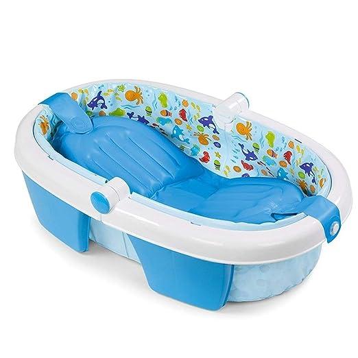 TYUIO Bañera Inflable para bebés Asiento Antideslizante Plegable ...
