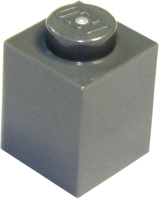 LEGO Parts and Pieces: Dark Gray (Dark Stone Grey) 1x1 Brick x50