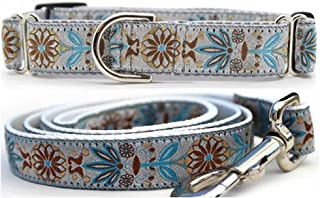 "product image for Diva-Dog 'Boho Morocco' 1"" Wide Chainless Martingale Dog Collar, Matching Leash Available"