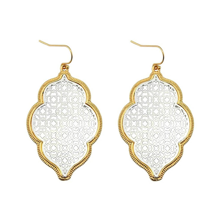 """""""Marrakesh Lantern"""" Filigree Earrings - Silver"""