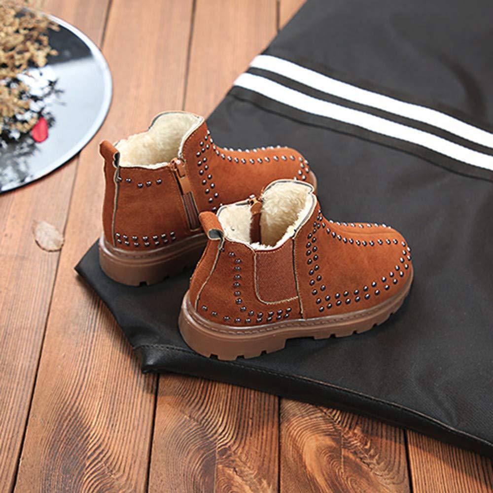 3.5-12 Years KASSD Children Kids Baby Girls Autumn Winter Warm Zipper Martin Boots Casual Shoes
