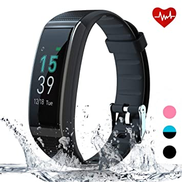 AKASO Montre Connectée Fitness Tracker – Tracker dActivité Smart Watch HR Homme Femme Enfant