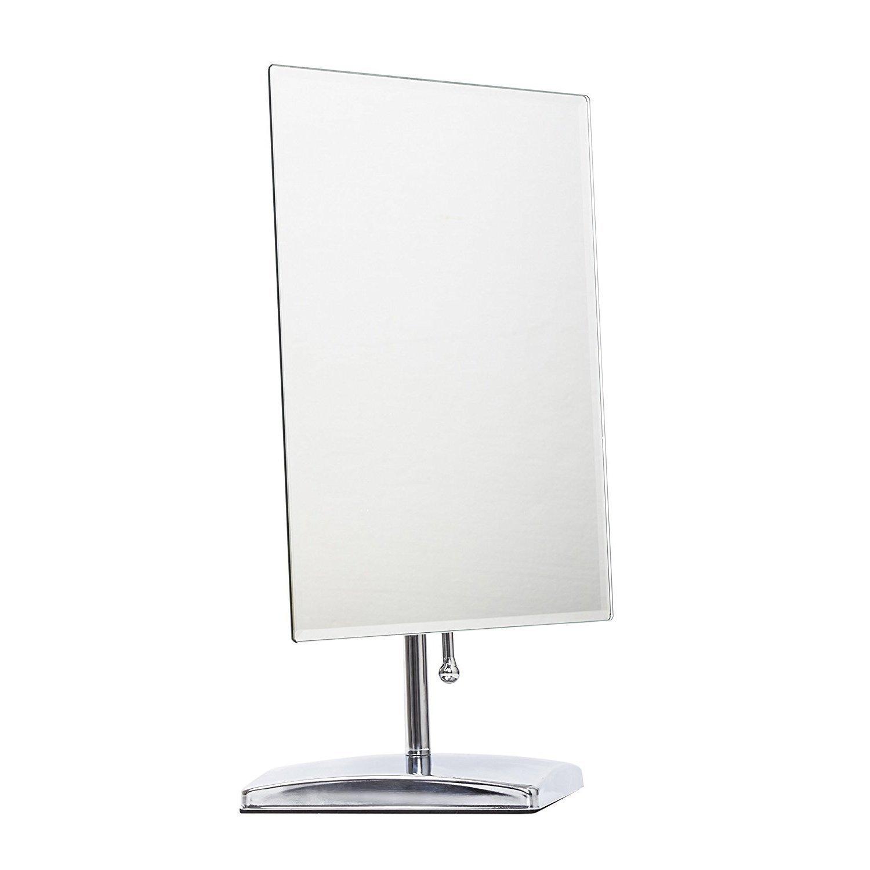 LEJU Makeup Mirror, Adjustable Rectangular Luxury Tabletop Makeup Mirror