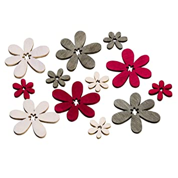 Design For Your Heart Streudeko Blume Rot Grau 72 Stuck Blute