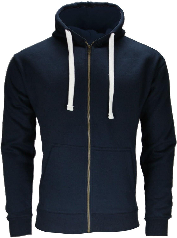 Mens Plain Hooded Sweatshirt Hoodie Zip Top Joggers Tracksuit