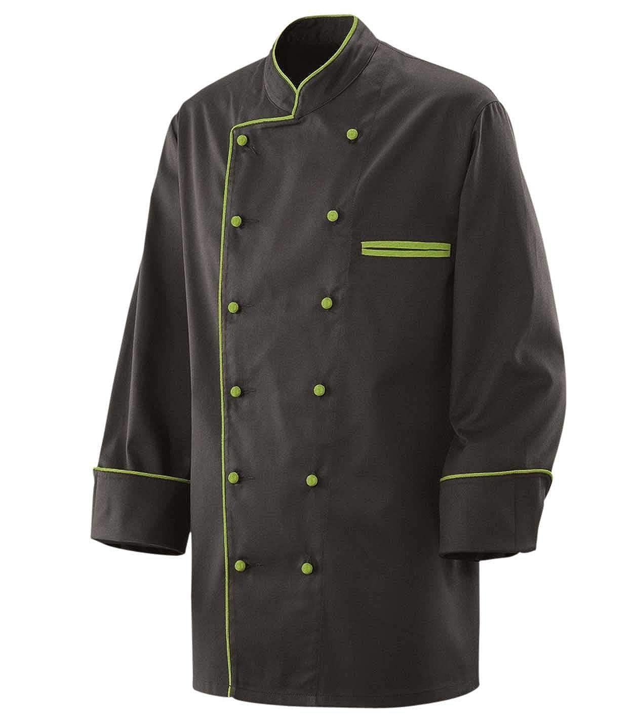 Giacca da cuoco con bordo a contrasto e bottoni