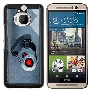 KLONGSHOP // Cubierta de piel con cierre a presión Shell trasero duro de goma Protección Caso - Spy cámara webcam - HTC One M9Plus M9+ M9 Plus //