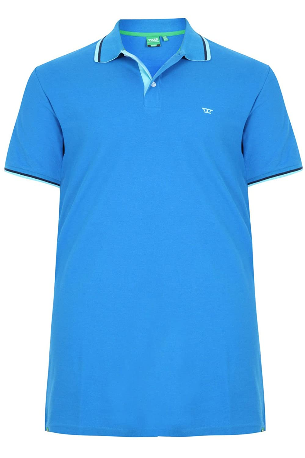 RACER-D555 Mens Extra Tall Polo Shirt With Contrast Tipping /& Chest Embroidry