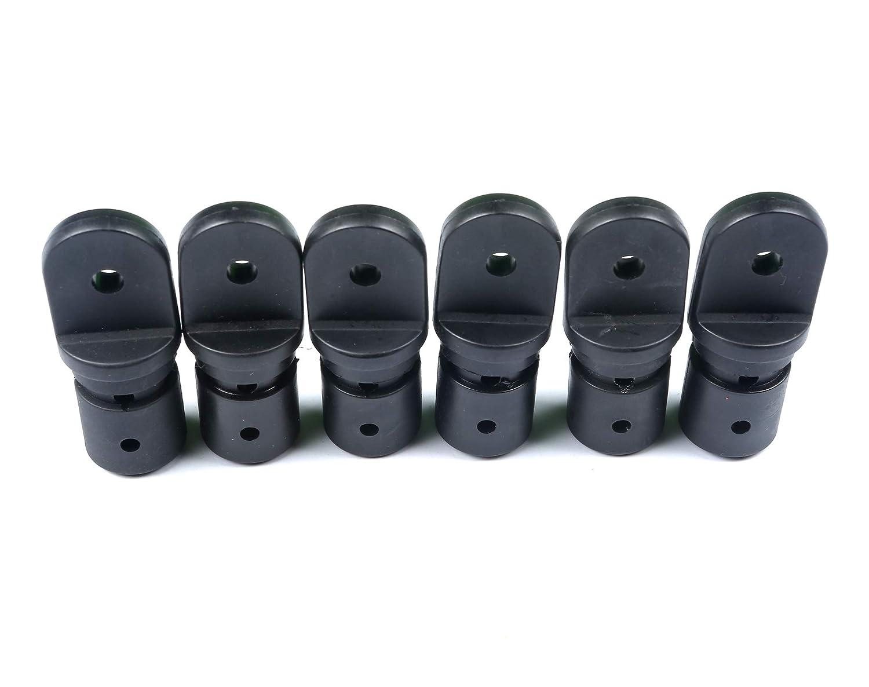 3//4 Inch Internal Version for 1 Tube Thorn Boat Bimini Fittings Top Cover Cap Eye End Nylon Black Pack of 6 Black