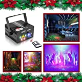 PurposeDJs, Bands, Bars, Pubs, Clubs, Roller skating rinks, KTV, Family party, Birthday party, Celebration, Wedding, Festival, Mall, Store, Shop etc.Product parameter: External Color: Black Laser source (Laser diode): 4 diodes (Red-100mw@650n...