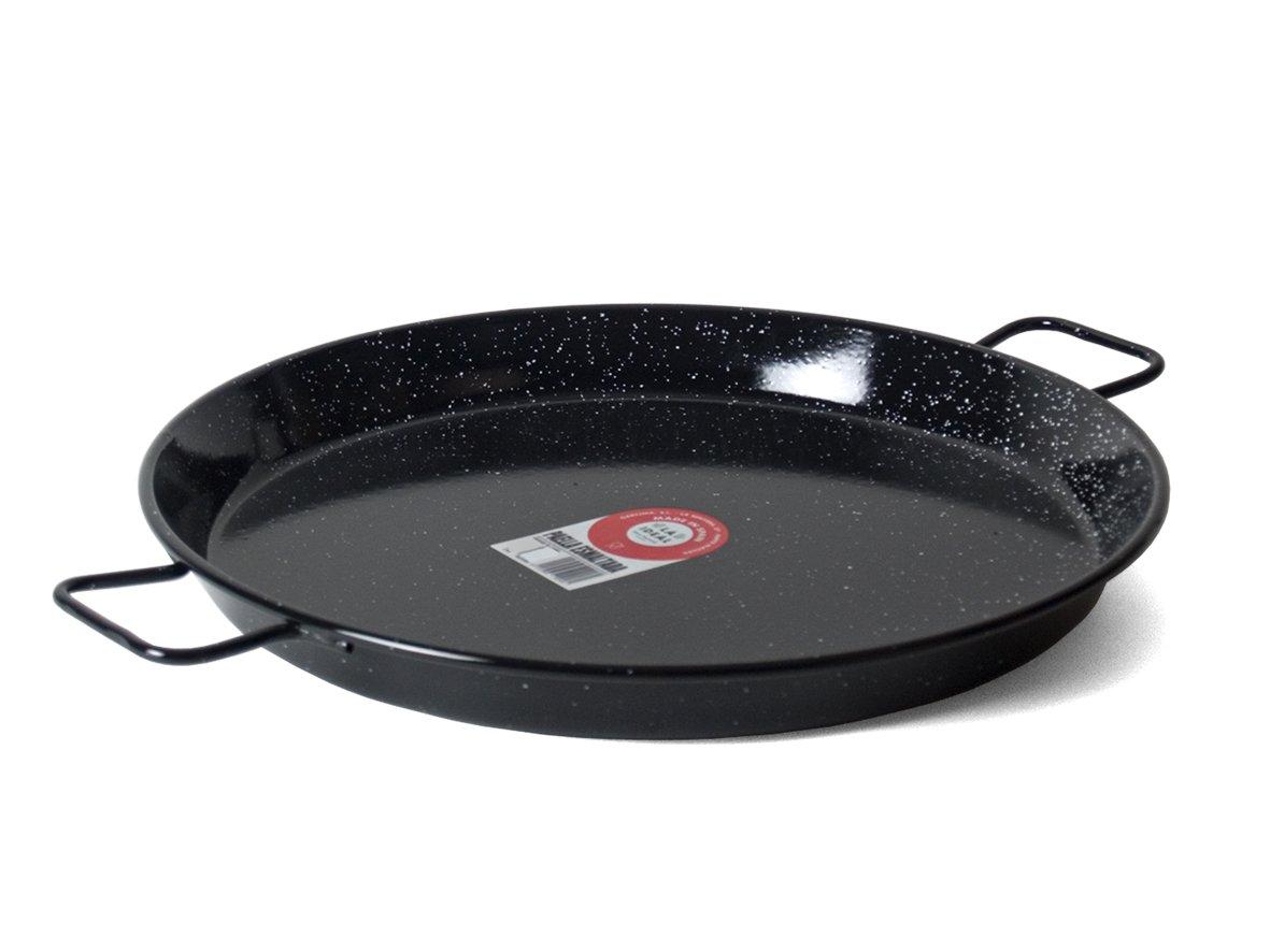 Garcima 20-Inch Enameled Steel Paella Pan, 50cm