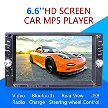 Dual-spindle Universal Car MP5 Car MP5 Bluetooth Radio Reversing One-piece Player with Backup Camera Car Stereo Audio MP5 Player with Bluetooth Function Support Hands-free Calls
