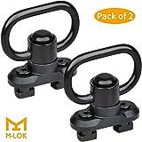 EZshoot 2 Pack M-lok Sling Mount QD Sling Swivels 1.25 Inch