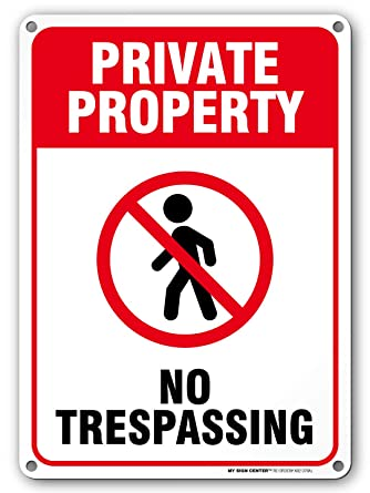 "Amazon.com: A82-228AL Cartel ""Private property no ..."