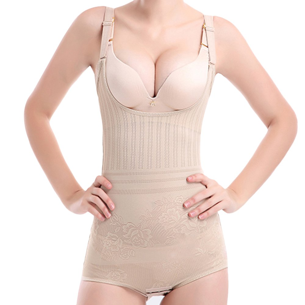 e4500cad80 Defitshape Women s Hi Waist Body Suit Briefer Tummy Control Slimmer Open  Bust Slimming Shaper at Amazon Women s Clothing store