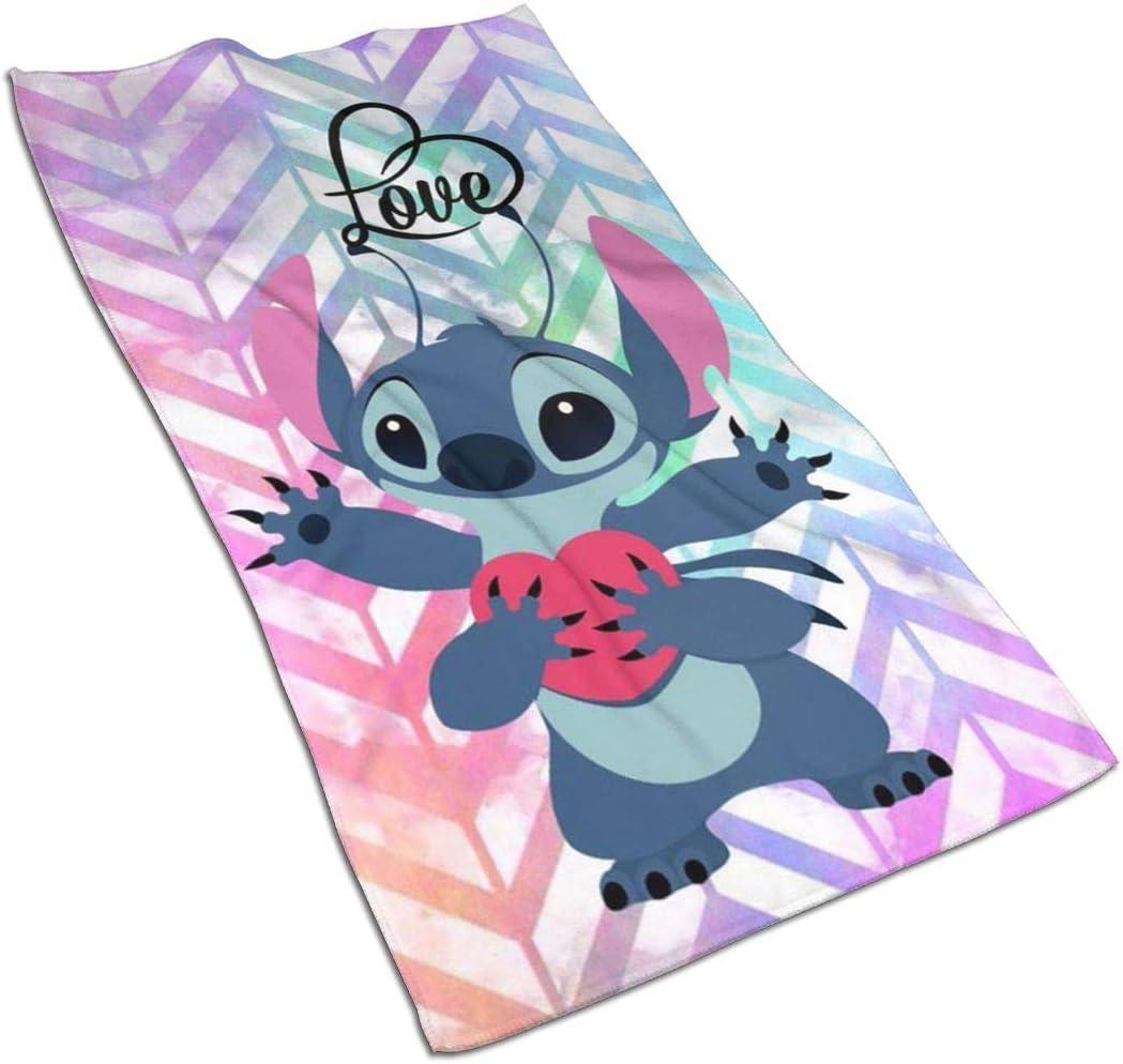 Aoyutiy Essuie-Mains Love Stitch Serviette de Douce et absorbante 27,5 X 17,5