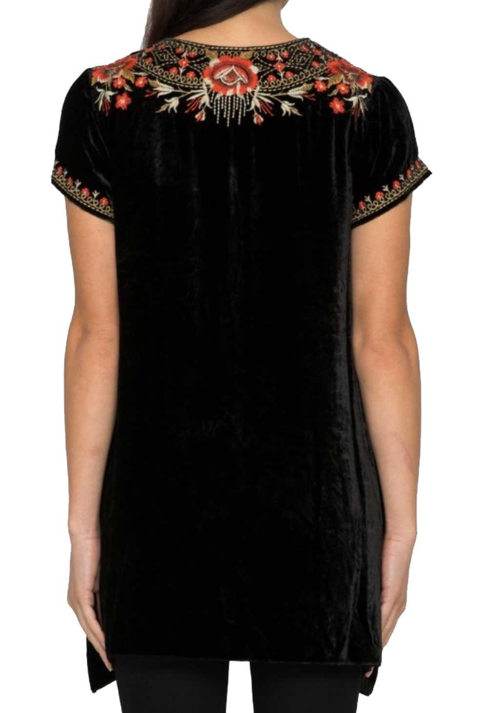 Johnny Was Women's Black Eleanor Velvet Drape Top by Johnny Was (Image #3)