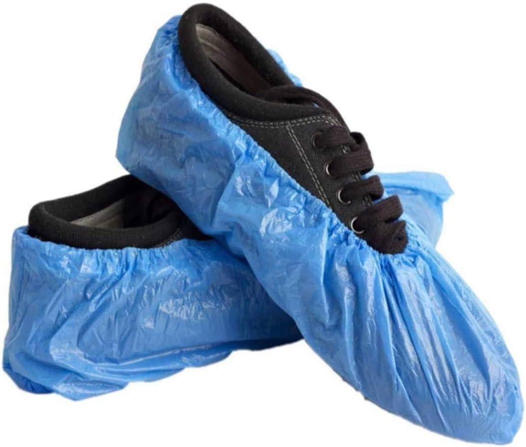50pares de patucos desechables, antideslizantes, impermeables, más gruesos, 100unidades, azul, talla única
