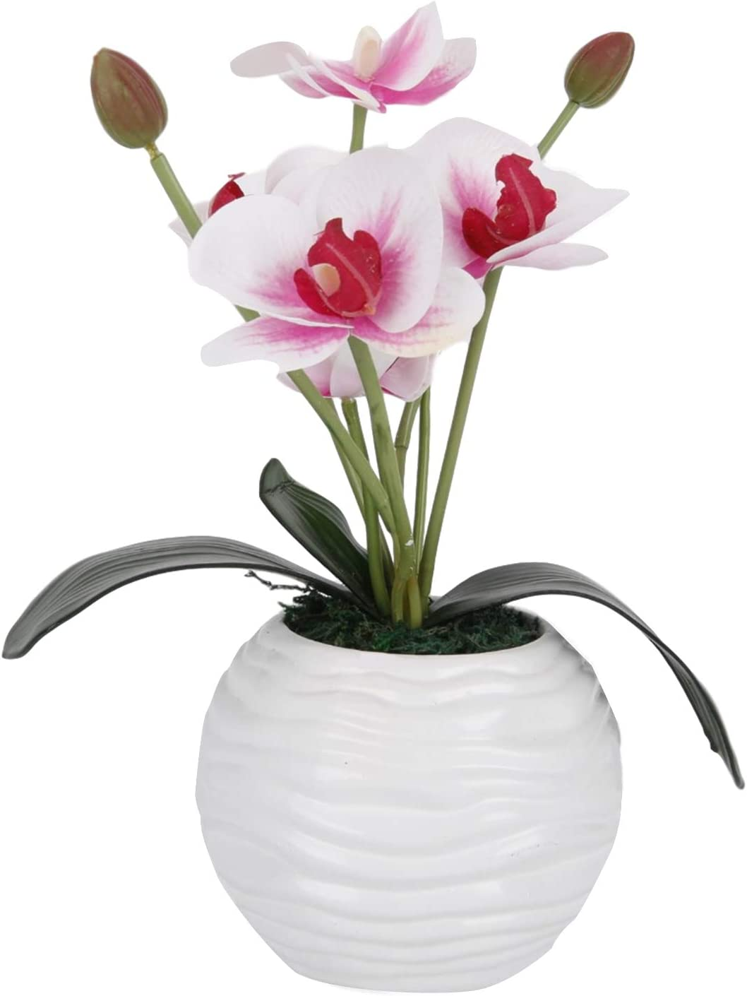 LIVILAN Artificial Flower Plant Fake Flowers Bonsai Decoration for Home Office Desk Decor Pink