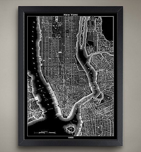 Cosmopolitan Maps Wall (New York City Map Print, Home or office Decor)