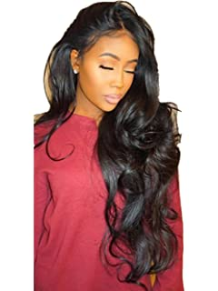 ❤️LILICAT Urly Perruque Glueless Full Lace Perruques Noir Femmes Indien  Remy Cheveux Humains Lace Front cdf58aa3bb7
