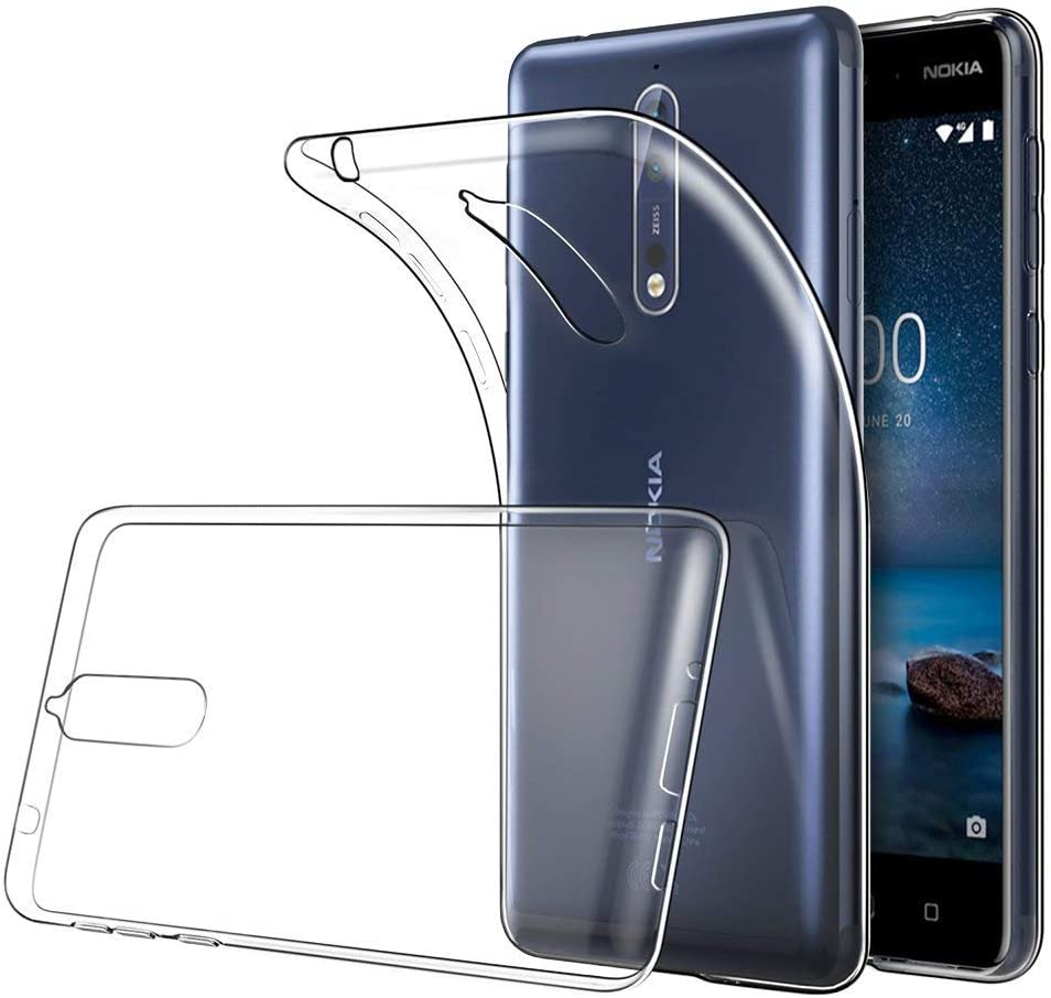 Funda Nokia 8 TPU Transparente Slim Silicona Case Cover [Anti ...