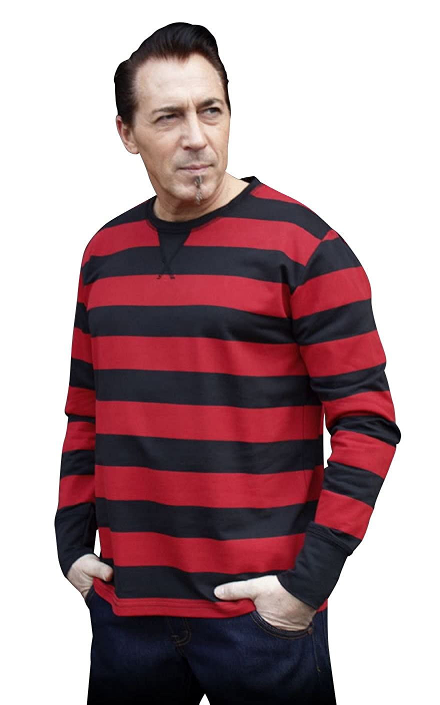 Rumble59 - Sweatshirt - gestreift schwarz rot
