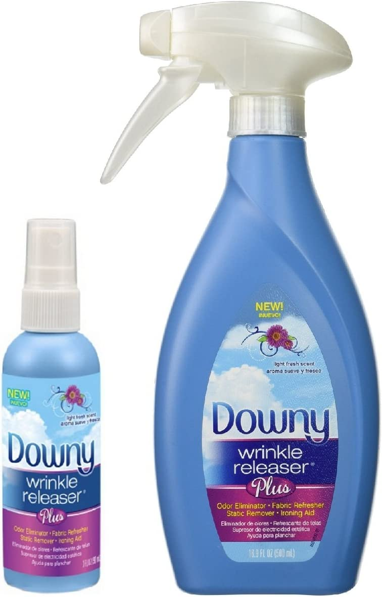 Downy Wrinkle Releaser Plus 16.9 fl oz with Travel Size Spray 3 fl oz - Combo Pack