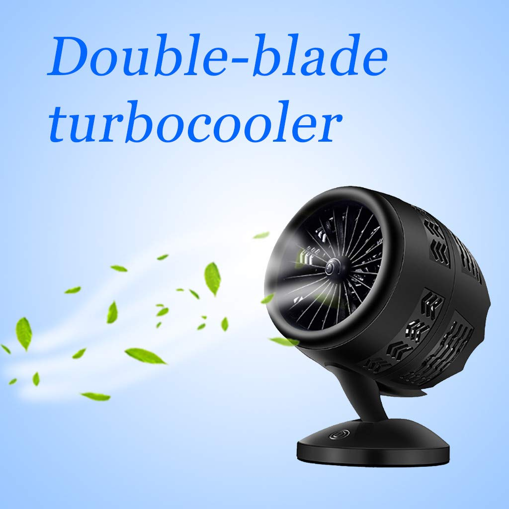 Sttech1 Portable Creative Desktop Table Fans Turbine Intelligence Fan USB Charging Double-Blade Personal Fans Touch Switch (C) by Sttech1-Home (Image #2)