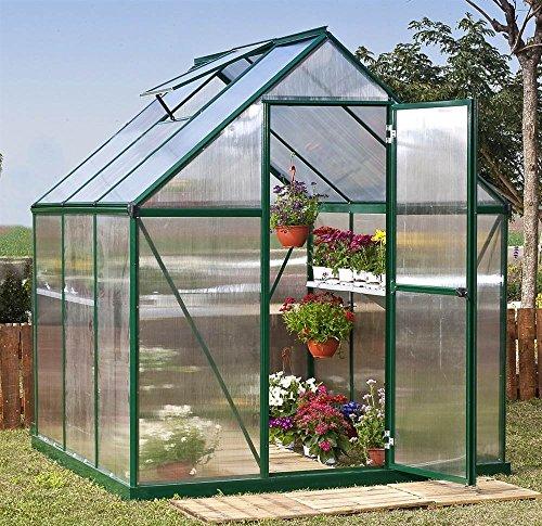 (Palram HG5006G Mythos Greenhouse, 6' x 6' x 7', Green)
