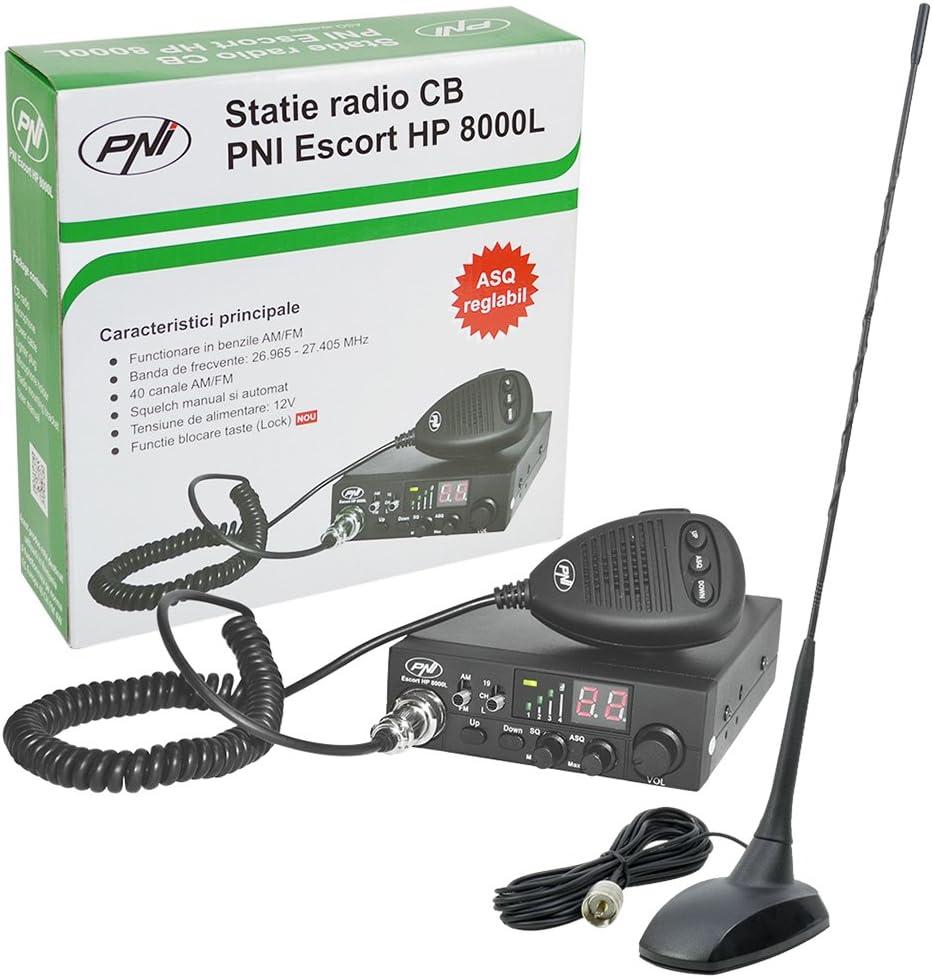 CB funkgerät Kit CB PNI Escort HP 8000L ASq + CB de Antena PNI Extra 48, Encendedor de Cigarrillos de Conector Incluidas