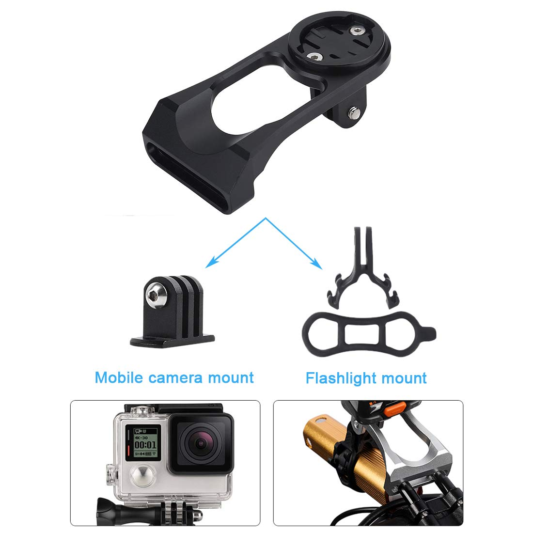 Bike Bicycle Stem Extension Computer Mount Holder For Mobile Phone Camera Stand