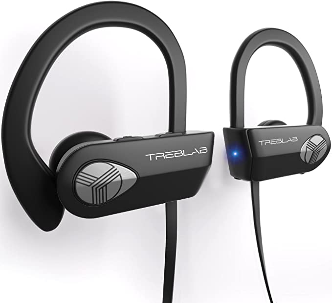 ea882273ec1 TREBLAB XR500 Bluetooth Headphones, Best Wireless Earbuds for Sports, Running  Gym Workout. (