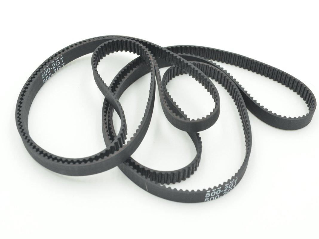 POWGE GT2 Timing Belt L=500mm W=6mm 250 Teeth Color Black Pack in Closed Loop Of 10pcs Ningbo Jiangbei Powge Transmission Component Co. Ltd