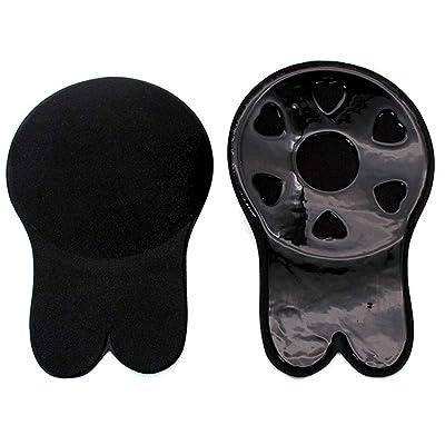 1pair Mujeres del oído Lindo Conejo Invisible del Sujetador de elevación del Pecho Etiquetas engomadas de Anti Flacidez pezón de Silicona Cubierta (Negro): Ropa y accesorios