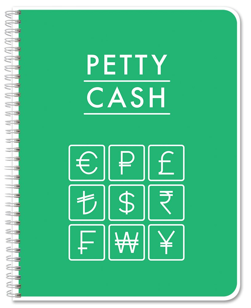 """BookFactory Petty Cash Log Book/Notebook/Journal - 120 Pages 8.5""""x 11"""" (LOG-120-7CW-PP-(PettyCash))"""
