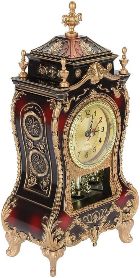 Horloge de Bureau Vintage R/étro Salon D/écoratif Vintage Style Table En Horloge Antique Home H/ôtel D/écoratif Bureau R/éveils pour Sommeil Bureau Chambre Voyage blanc Pendulettes de Bureau