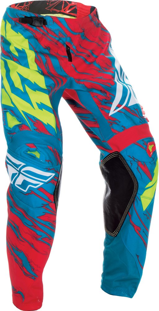 Fly Racing Unisex-Adult Kinetic Relapse Pants Teal/Red Size 38