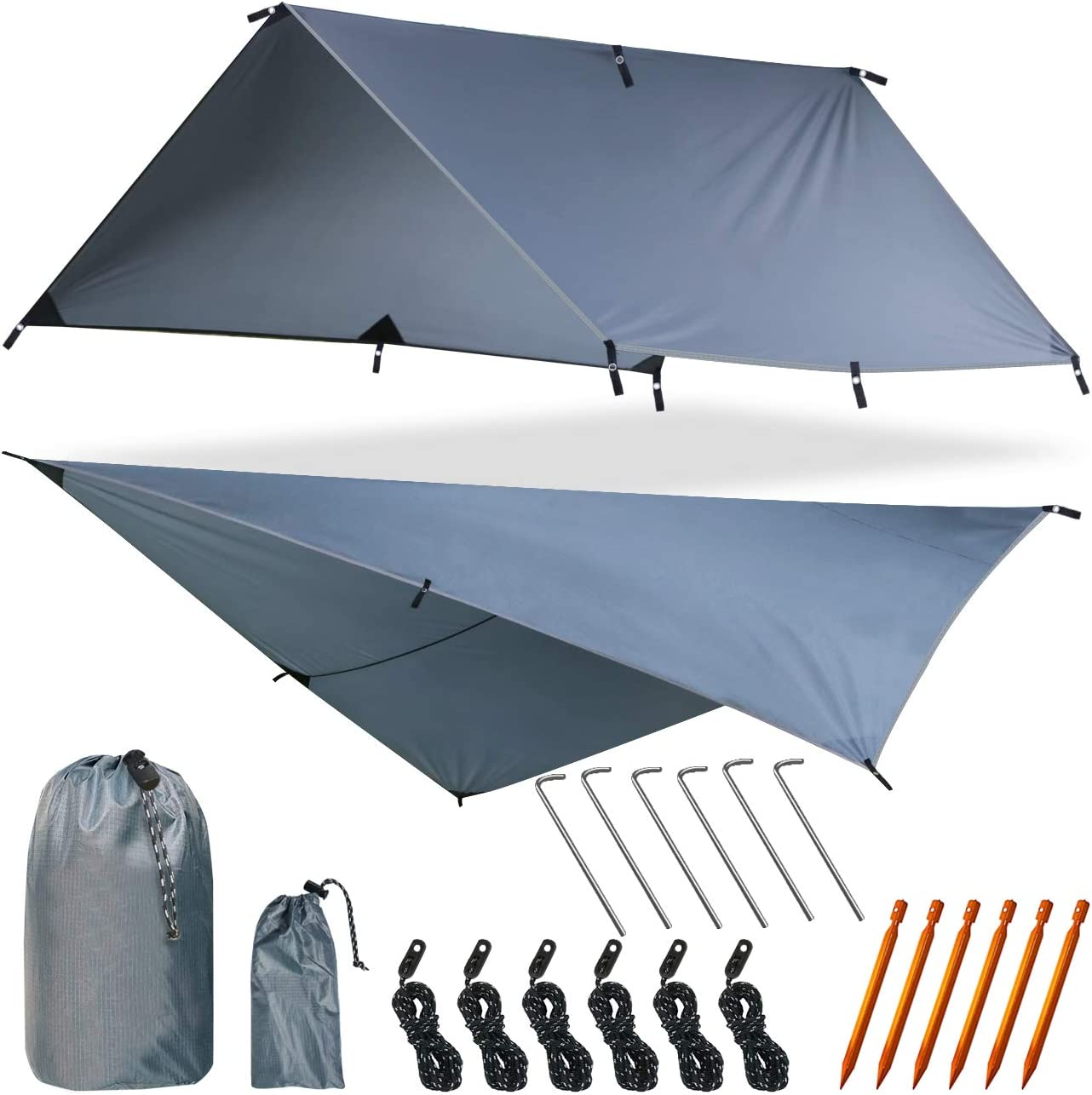 Yztree Fly Tent Tarp Hammock Fly Tent Lightweight Backpacking Camping Shelter 10.5 x10ft Include More Accessorie