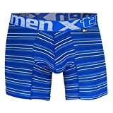 51396 Microfiber Stripes Boxer Briefs Color Blue Size XL