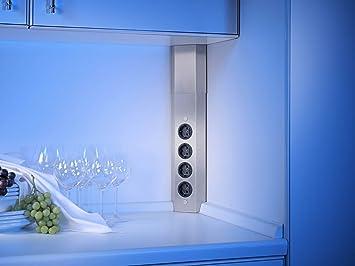 Eck Steckdosenleiste Küche | Eck Steckdosenelement 4 Fach Ii Edelstahl Amazon De Baumarkt
