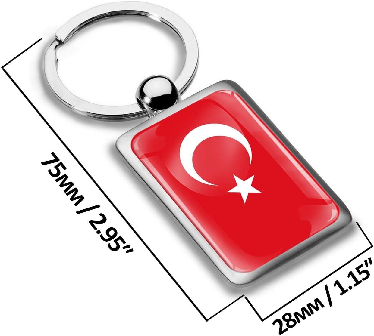 Biomar Labs/® 3D Metal National Turkey Turkish Flag Keyring Key Ring Accessories Men Women Keychain Gift KK 247