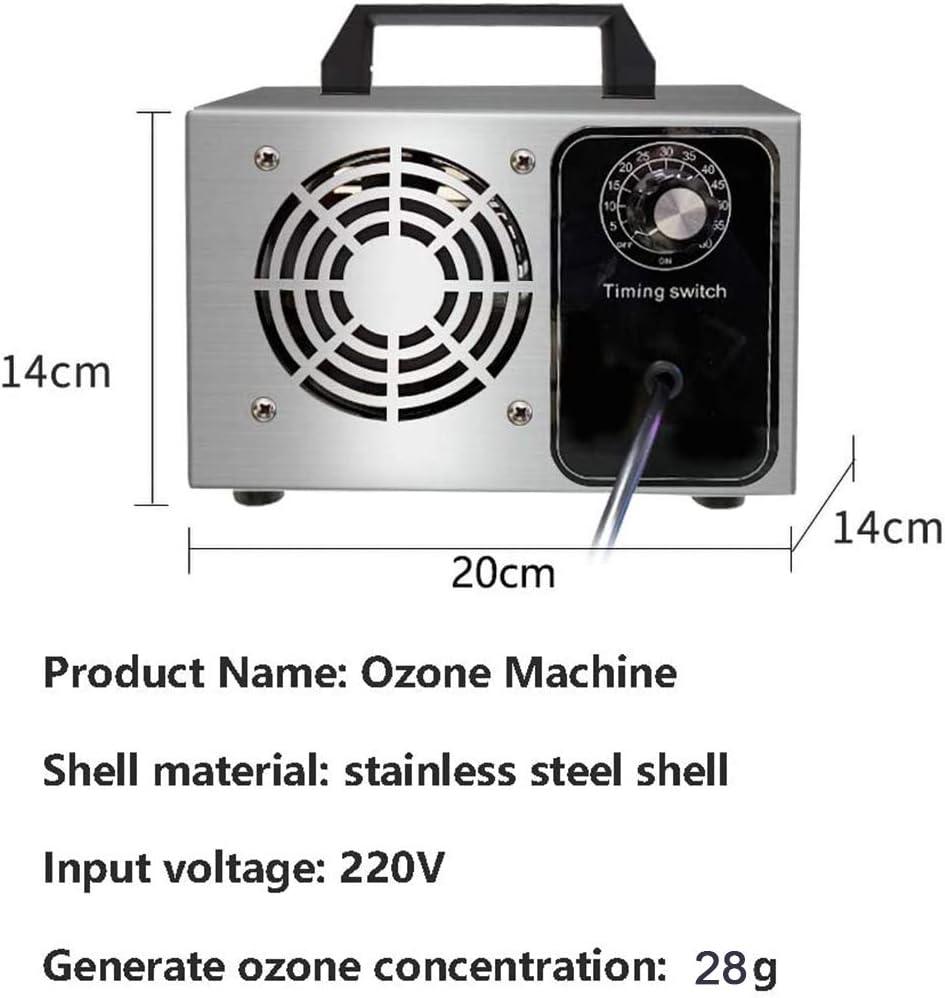 28 g h purificatore generatore di ozono portatile generatore di ozono commerciale deodorante macchina di ozono industriale deodorante purificatore daria O3