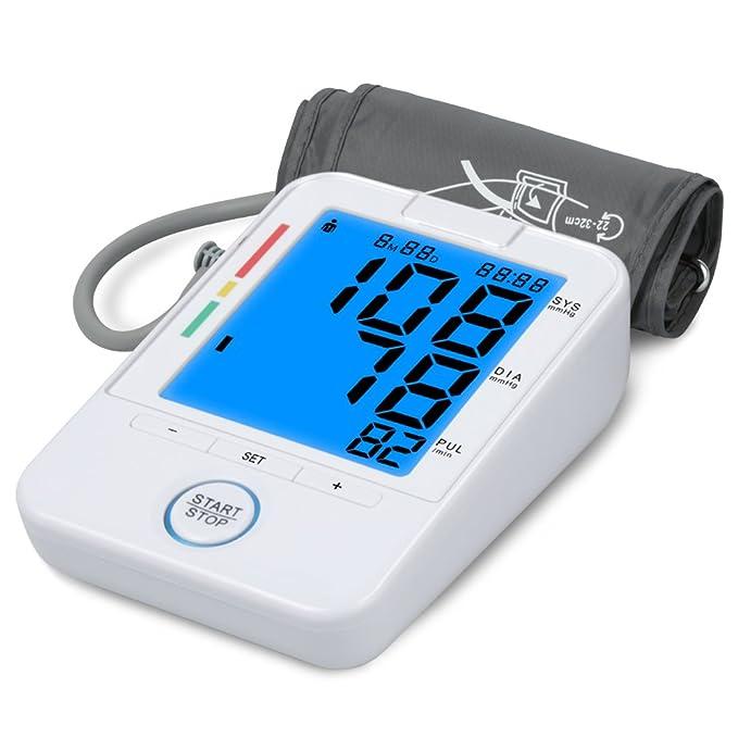 Meerveil Tensiómetro de brazo digital Electrónico tension arterial Monitor de Presión Arterial et Ultra-delgado Certificado por CE, FDA: Amazon.es: Salud y ...