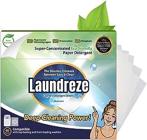 Laundreze Laundry Detergent Sheets (60 Sheets)