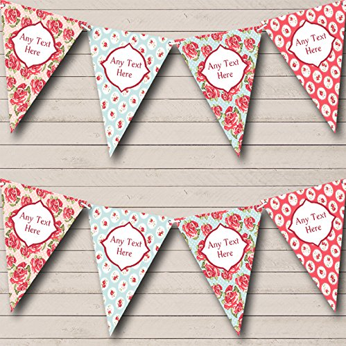c Vintage Rose Garden Personalized Wedding Bunting Banner (Personalized Tea Party)